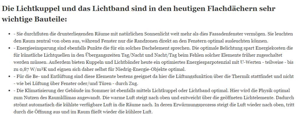 Kühnle-Montagen.de Ihr Profi für alle Flachdach-Lichtelemente und Lichtkuppel